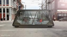 轮子上的智能办公室:车身透明可自动驾驶