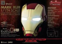 钢铁侠1:1头盔造型蓝牙音箱