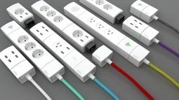 全功能、超灵活搭配的模块化插座设计