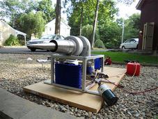 美国高中生两年时间潜心制作涡轮喷气发动机