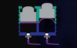 液体驱动的立体盲文显示屏