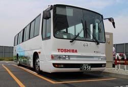 特斯拉过时了?东芝测试电动巴士无线充电技术