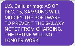 三星将在美国地区永久禁用Note 7,用户无法充电