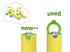 """如何分辨新、旧电池?这设计师给电池加了""""贞操环"""""""