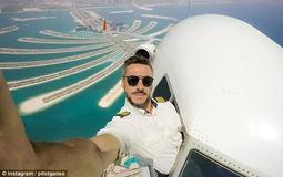 飞行员高空中探出舱门自拍 照片是不是真的?