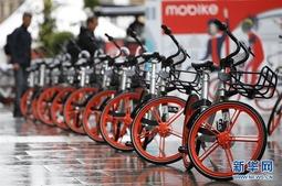 图集:中国共享单车亮相英国街头