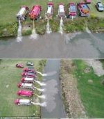 1.1吨牛奶意外泄漏 美国现牛奶河