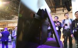 超薄窄边框 索尼OLED电视现场图赏