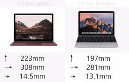 27张图看懂Surface Laptop和12英寸MacBook区别