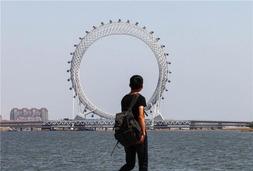 全球最高无条幅摩天轮,嗯,在山东