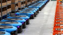 菜鸟智能机器人仓库启动 天猫送货上午下单下午到