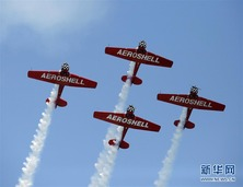 芝加哥举行海空飞行表演秀