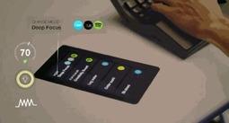 办公桌竟自带平板电脑 智能如影随形