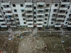 宁波爆炸现场 整栋楼窗户全都震碎