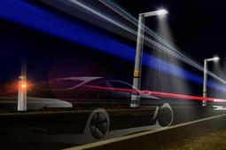 高速公路上的智能路灯系统,车经过时才会亮