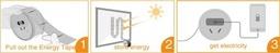 """超薄柔性太阳能""""胶带"""":随时随地的发电站"""