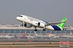 中国商飞C919第二架飞机迎新春首飞