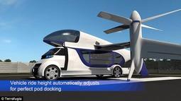 未来派飞行出租车设计:两分钟内起飞升空 吊舱迅速替换