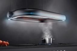 黑科技来啦!无需打孔排风的新型抽油烟机……确定不是UFO么?