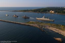 俄海军节海上阅兵前航拍照片曝光
