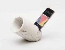 科技牵手石材~大理石材质的手机音频放大器:OVO