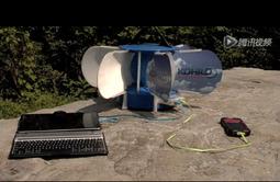 便携式风力发电机:可同时给两台设备充电